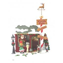 Officina del Babbo Natale in resina