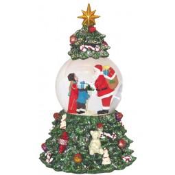 Sfera Babbo Natale nell'albero di Natale
