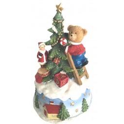 Orso musicale decora l'albero di Natale