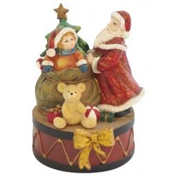 Carillon Babbo Natale con bimbo