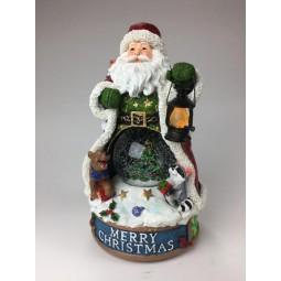 Carillon Babbo Natale con palla di neve