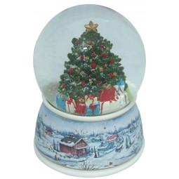 Palla di neve con albero di Natale