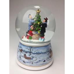 Palla di neve, decorare l'albero di Natale