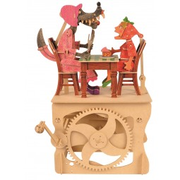 """Puzzle tridimensionale """"Cappucetto Rosso e la volpe"""" in legno"""