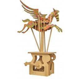 """Puzzle tridimensionale """"cavallo con ali"""" in legno"""