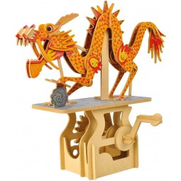 """Puzzle tridimensionale """"drago"""" in legno"""