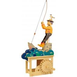 """Puzzle tridimensionale """"pescatore"""" in legno"""