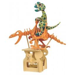 """Puzzle tridimensionale """"dinosauro"""" in legno"""