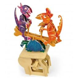"""Puzzle tridimensionale """"altalena dinosauro"""" in legno"""
