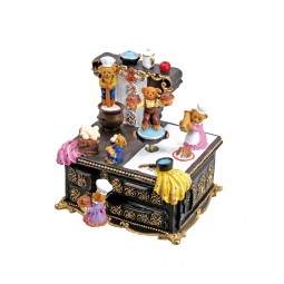 Music box stove bears