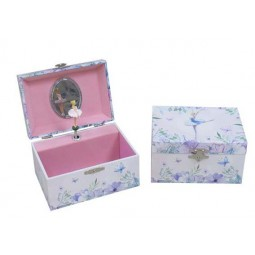 Rectangular keepsake box with ballerina light blue