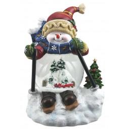 """Snow globe """"skiing Snow man"""""""