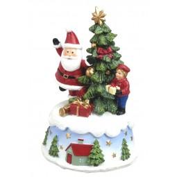 Babbo Natale con albero