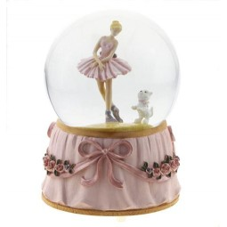 Sfera Ballerina con cane 100 mm
