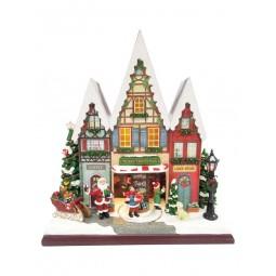 Piazza scena di Natale