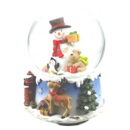 Snowglobe snowman & dog