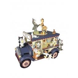 Carillon vagone cremeria con gatti