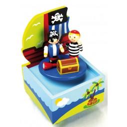 Carillon in legno nave pirata