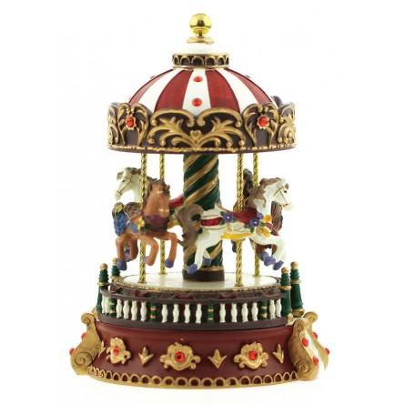 Carillon giostra con pietre rosse