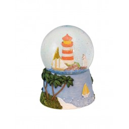 Glitter globe lighthouse