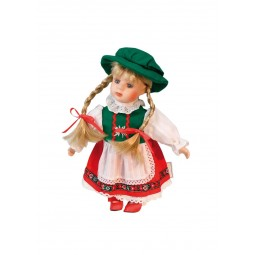 Musicbox Bavarian doll made of porcelain