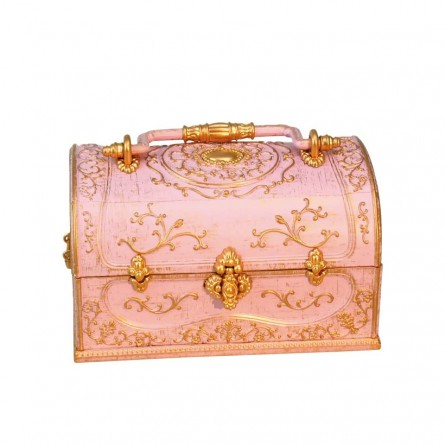 Jewelry suitcase in pink