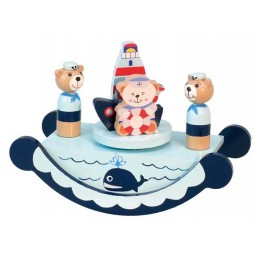 Wooden sailor bears