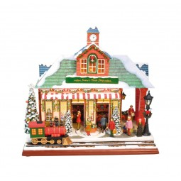 "Musicbox ""Decorated train station"