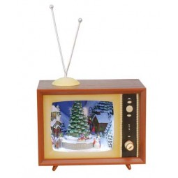 Television with snowy scene