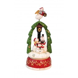 Musicbox Snowmen with flying Snowman angel