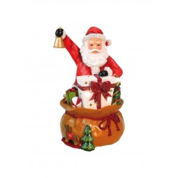 """Musicbox """"Santa with his bag full of gifts"""""""