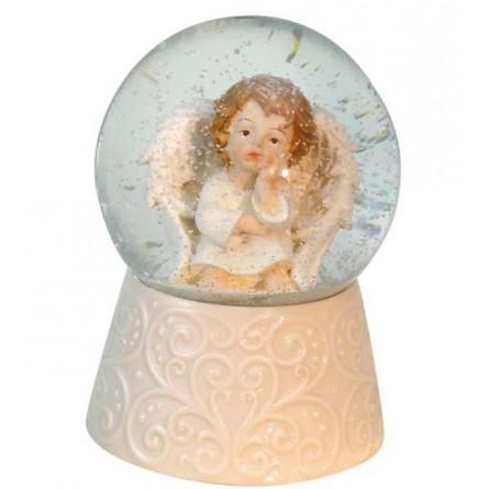 "Glitter globe ""Putto"""