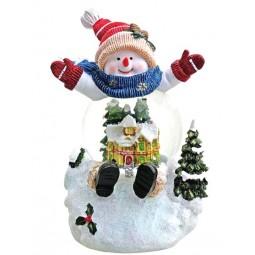"""Snowglobe """"Snowman"""" with illumination"""