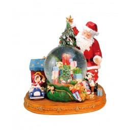Globo di neve Babbo Natale con regali