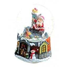 """Snowglobe """"Santa at the roof"""""""