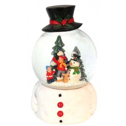 "Musicbox ""snowglobe with hat"""