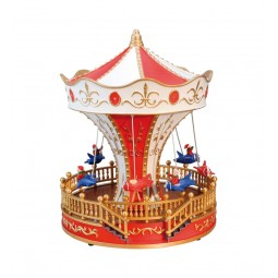 """Flying chairs merry-go-round made out of plastic"""