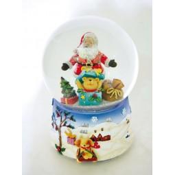 Snowglobe Santa & Bear in the box