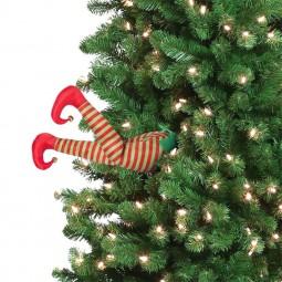 """Carillon gambe mobili """"Elfo"""" per l'albero di Natale"""