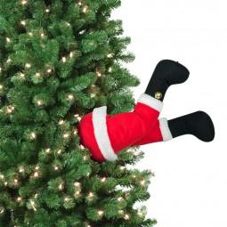"""Carillon gambe mobili """"babbo natale"""" per l'albero di Natale"""