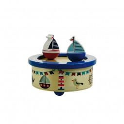 Carillon in legno, barche a vela ballando