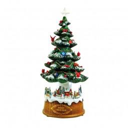 Scena con alberi di Natale