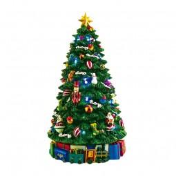 L'albero di Natale illuminato