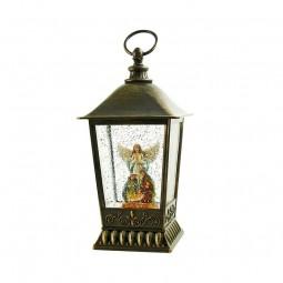 Lanterna luccicante con angelo e presepe