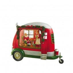 Camper con Babbo Natale e sua moglie