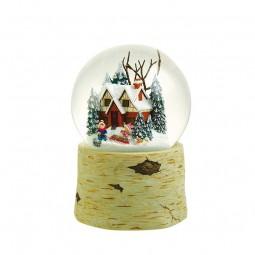 Palla di neve 120 mm con pupazzo di neve e bambini