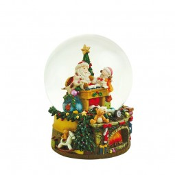 Palla di neve musicale con Babbo Natale