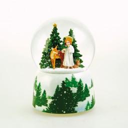 Carillon Palla di neve Gesu Bambino