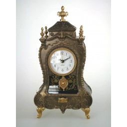 Carillon orologio da caminetto in oro antico con cassetti