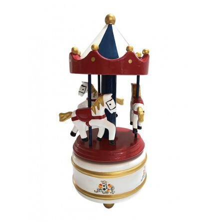 Wooden Carousel red